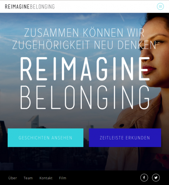 Screenshot der Webseite reimaging belonging